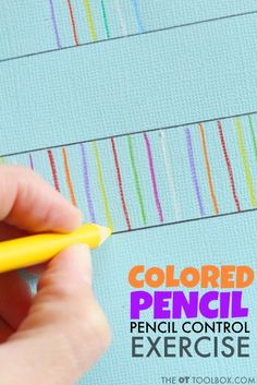 Use colored pencils to work on handwriting with these three handwriting activities that address letter formation, pencil pressure, and pencil control. Teaching Handwriting, Handwriting Activities, Improve Your Handwriting, Handwriting Practice, Handwriting Worksheets, Occupational Therapy Activities, Motor Skills Activities, Pre Writing, Writing Skills