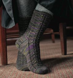 Narcissa Socks by Rachel Coopey.  Knitted socks.  Harry Potter.  The Unofficial Harry Potter Knits magazine.  Saved to Evernote/ iBooks.  4ply 253m/100g x 2.5