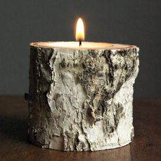 How to Make Candle Holders from Branch #DIY