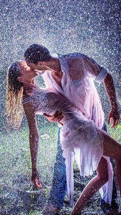 Lovers in the Rain by Charlotte Hellings kiss me in the rain. Kissing In The Rain, Dancing In The Rain, Dancing Couple, Couple In Rain, Rain Dance, Romantic Couples, Cute Couples, Romantic Things, I Love Rain