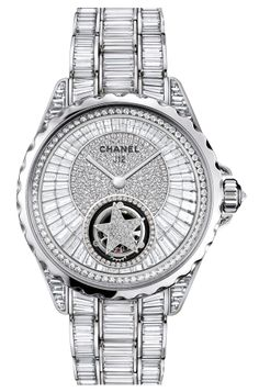 "#Chanel - #J12 ""Tourbillon Volant"" white gold and diamond - #Baselworld2014"