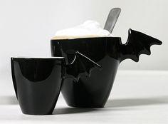 Ceramic bat mugs and bowls by Sami Rinne Design