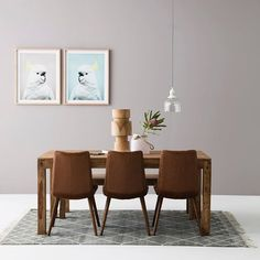 Wonderlust with this dining space that fuses the warmth of timber with pretty pastels featuring our Kote dining table + bench seat in rosewood, Sanata dining chairs in vintage brown, Cockatoo pink and blue print and new season homewares! #ozdesignfurniture #moderninteriorsinteriors #pastels #dining #home #trend #contemporary #styling #interiordesignideas #homeinspo #homewares #homedecor #style #design #FF #interiordesign #furniture