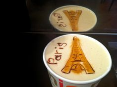 latte art- I'm just speechless! I love coffee and I'm off to Paris at Christmas!! Love this!!