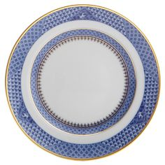 Enriched with gold the Indigo Wave design in deep cobalt blue was inspired by an exquisite porcelain plate made for a Portuguese noble.  sc 1 st  Pinterest & Mottahedeh Indigo Wave Dinner Plate | Mottahedeh Indigo Wave | Pinterest