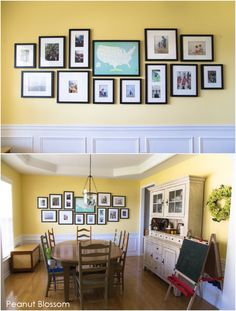 I am LOVING this travel #gallerywall from Tiffany at PeanutBlossom! I know she's got something interesting planned for the area above the map, too. Hope you'll read the entire post, and check out more before/afters in her new home!