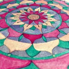 Watercolour Lotus Flower Mandala