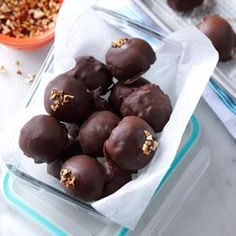 Mocha-Pecan Ice Cream Bonbons - this recipe looks easy and delicious. I probably wouldn't be able to stop eating them once I had just one.