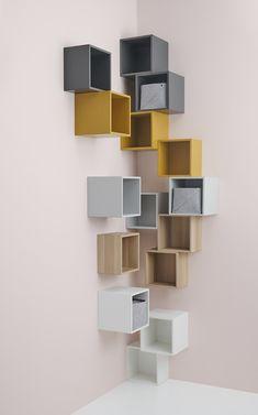 Best Indoor Garden Ideas for 2020 - Modern Ikea Living Room, Ikea Bedroom, Diy Bedroom Decor, Home Decor, Corner Shelf Design, Corner Shelves, Ikea Inspiration, Ikea Eket, Design Ikea