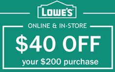 7 Best Lowe's Coupon images in 2017 | Lowes coupon, Lowes