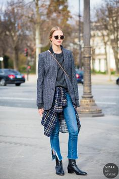 Haute Couture Spring 2016 Street Style: Sasha Luss