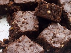 What's better than chocolate? Three kinds of chocolate, of course! Triple Chocolate Brownies at Bake or Break