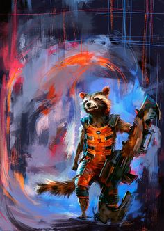 Rocket Raccoon by Namecchan on deviantART