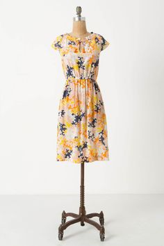 """puzzled pieces dress #anthropologie  From the captivating keyhole details to the clever curling flora, everything about Vanessa Virginia¿s little silk number is a perfect fit.        Side pockets      Pullover styling      Silk      Dry clean      37.5""""L      Imported"""