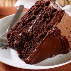 A delicious recipe for a Triple Layer Chocolate Cake. Triple Layer Chocolate Cake Recipe from Grandmothers Kitchen.