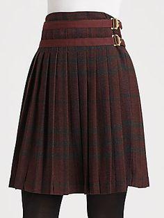 Burberry Brit Check Kilt Skirt