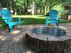 Backyard fire pit backyard fire pit lowes paver bricks with tractor supply fire ring Fire Pit Lowes, Diy Fire Pit, Fire Pit Backyard, Foyers, Patio Diy, Patio Ideas, Backyard Ideas, Backyard Projects, Fire Pit Plans