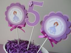 3 Sofia the First Birthday Party by sweetheartpartyshop on Etsy