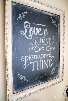 {Ella Claire}: Valentine Chalkboard Free Printable and Template