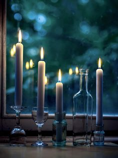 Candle light.