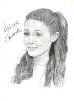 ariana grande drawing | ariana grande by blnart18 traditional art drawings portraits figures ...
