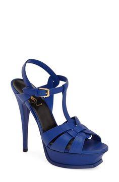 Saint Laurent 'Tribute' T-Strap Platform Sandal (Women) available at #Nordstrom