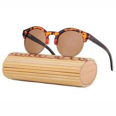 Fashion Round Bamboo Sunglasses Men Wood Sunglasses Women Brand Design Retro Mirror Sun Glasses For Women Oculos de sol feminino