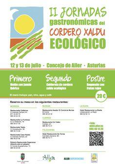 II Jornadas gastronómicas del cordero Xaldú ecológico, Aller