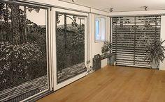 Charlotte Mann, artista británica, llena de profundidad y detalles los grandes espacios blancos que intentan apoderarse de las habitaciones.