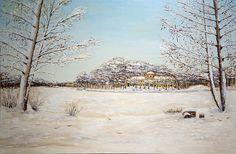 "Картина - ""Зима в Кузьминках"" Размер (см.): 60x90 Масло, холст на подрамнике"