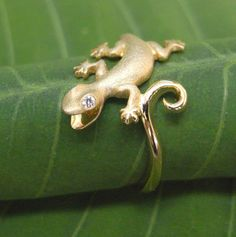 Denny Wong 14K Gecko Ring
