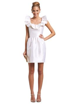 Kirribilla Zoe Lwd Little White Dress with ruffles
