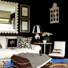 Los colores negros son dominantes, sofisticados y elegantes. #TipdeColor   ¡Es por eso que se recomienda utilizarlo como acento y combinarlo con otros colores en habitaciones principales y contemporáneas!
