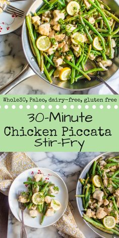 A veggie-loaded, Paleo twist on classic Italian dish, 30-Minute Chicken Piccata Stir-Fry is a must add to your weekly dinner menu! Quick, easy and full of bright flavors, it is sure to leave you satisfied in all ways! {Paleo, Whole30, dairy-free, gluten free}