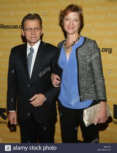 Annual Freedom Award Benefit Event hosted by International Rescue Committee held at the Waldorf Astoria Hotel  Featuring: Mikhail Baryshnikov,Lisa Rinehart Where: New York, New York, United States When: 05 Nov 2014 Credit: Derrick Salters/WENN.com Stock Photo