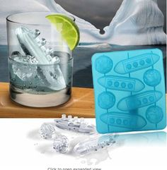 Titanic Shaped Ice Cube Trays Mold Maker Silicone Party By Buyinconis Ice Cube Molds, Ice Cube Trays, Ice Cubes, Ice Ice Baby, Candy Molds, 3d Prints, Cool Items, Titanic, Cool Gadgets