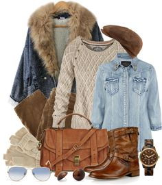 """""""Winter Denim"""" by leegal57 ❤ liked on Polyvore"""