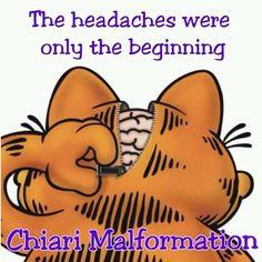 Garfield Chiari Malformation then a whole list of crap