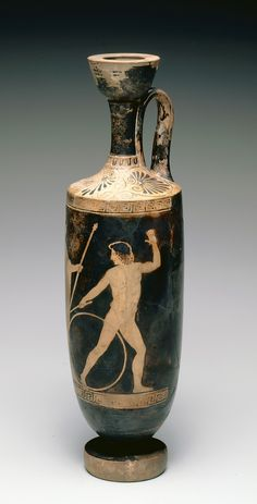 "Greek, ""Attic Red-Figure Lekythos: Zeus and Ganymede,"" about 460-420 B.C., Indianapolis Museum of Art, Gift of Mr. & Mrs. Eli Lilly, 47.35"
