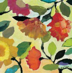Floral Tile I Impressão artística