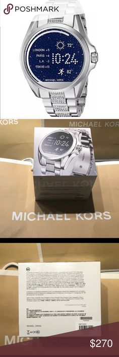 MIchael Kors Smartwatch! Back in Stock!!!! 100% Authentic Michael Kors Touchscreen Smartwatch.  44mm.  Compatible with apple and android!  Retail is $350. Michael Kors Accessories Watches