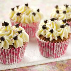 Chocolate cupcakes with butter cream icing