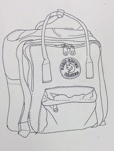 contour drawing of my kanken