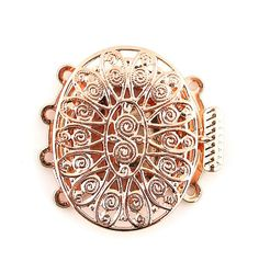 Rose Gold Plated Filigree 4 Four Multi Strands Oval Jewelry Box Clasp Rose Gold Plates, Filigree, Bracelet Watch, Trending Outfits, Unique Jewelry, Handmade Gifts, Bracelets, Etsy, Accessories