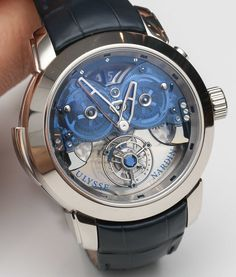Ulysse Nardin's Imperial Blue Watch With Flying Tourbillon And 4-Gong Sonnerie…