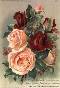 Винтажные розы для декупажа. Обсуждение на LiveInternet - Российский Сервис Онлайн-Дневников