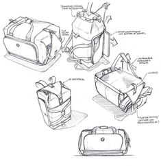 Sketches we like / linedraw / Backpack / Simple sketch / Arows / at tastyskech.com