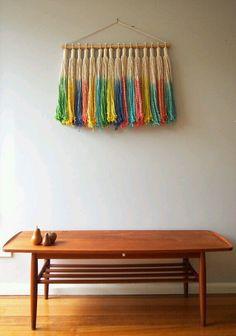 Hanging tassel macrame