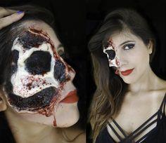 Halloween Makeup! Maquiagem de Halloween! youtube.com/isabelleverona