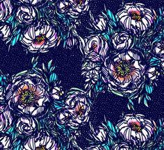 Bouquet Jersey, Dark Blue by Selia